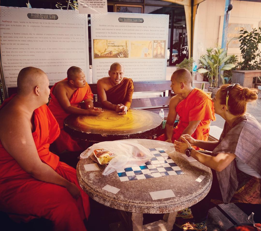 Chat with monks